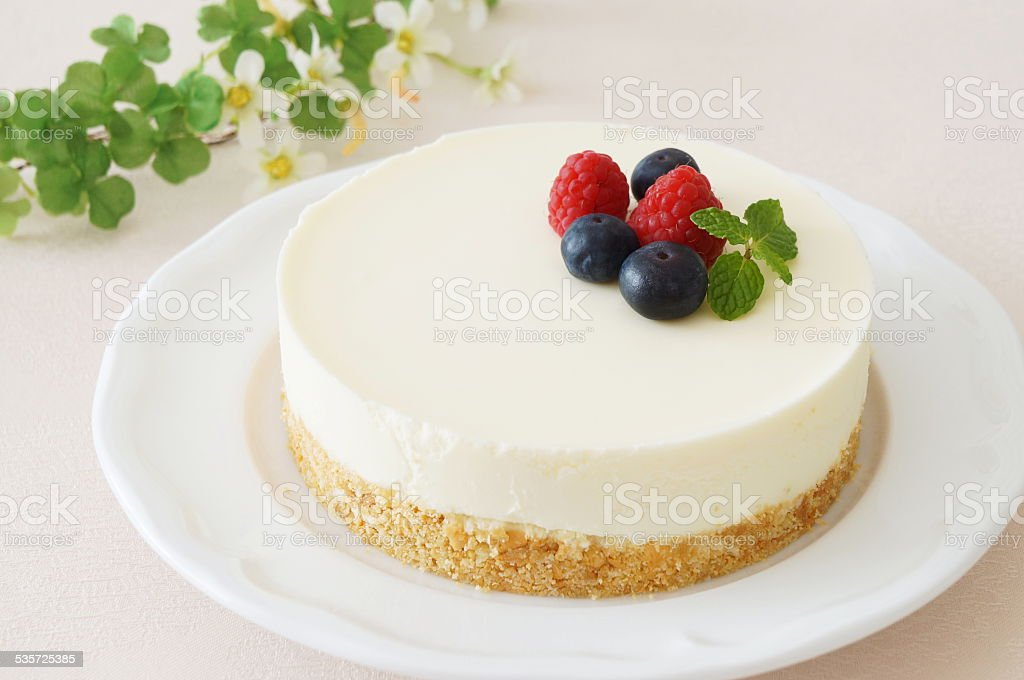 No-bake Cheesecake stock photo