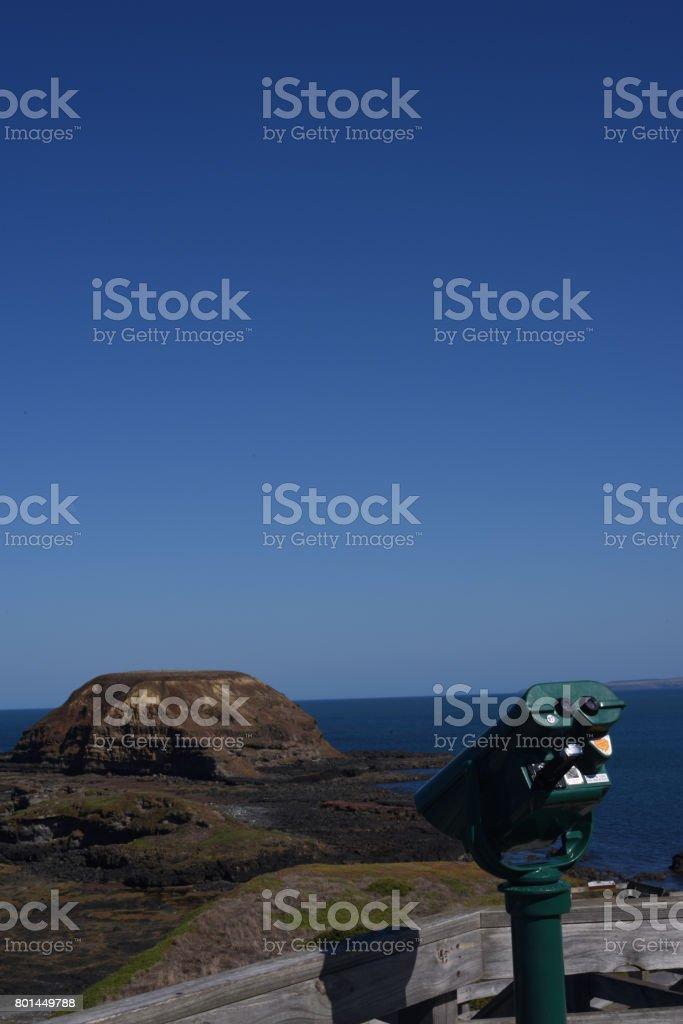 Nobbies Look Out Australia Phillip Island stock photo