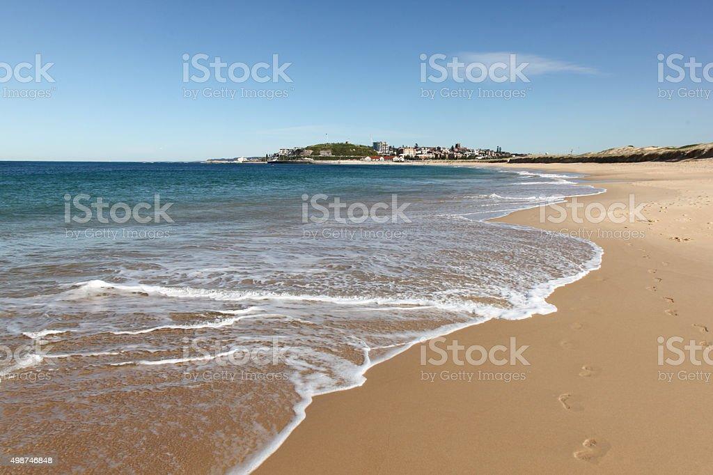 Nobbys Beach - Newcastle Australia stock photo