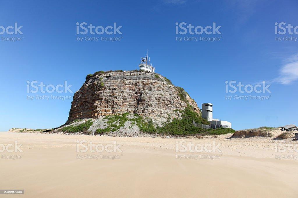 Nobbys Lighthouse Newcastle Australia stock photo