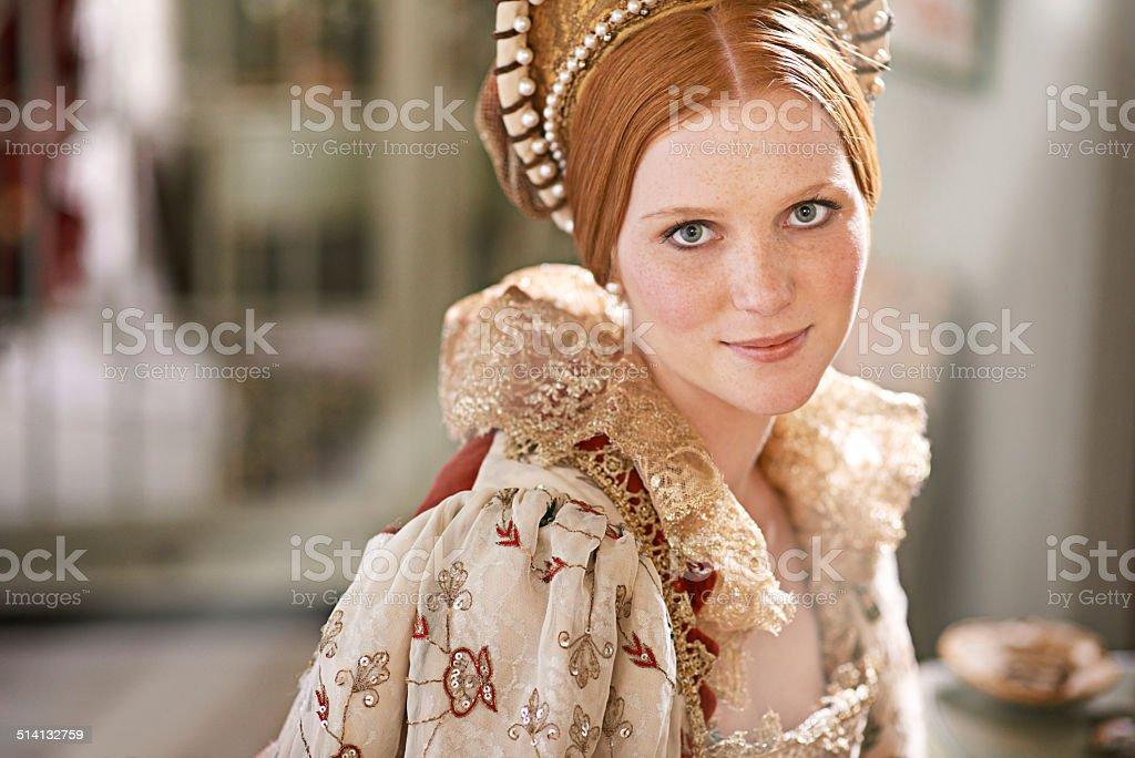 Noble beauty stock photo