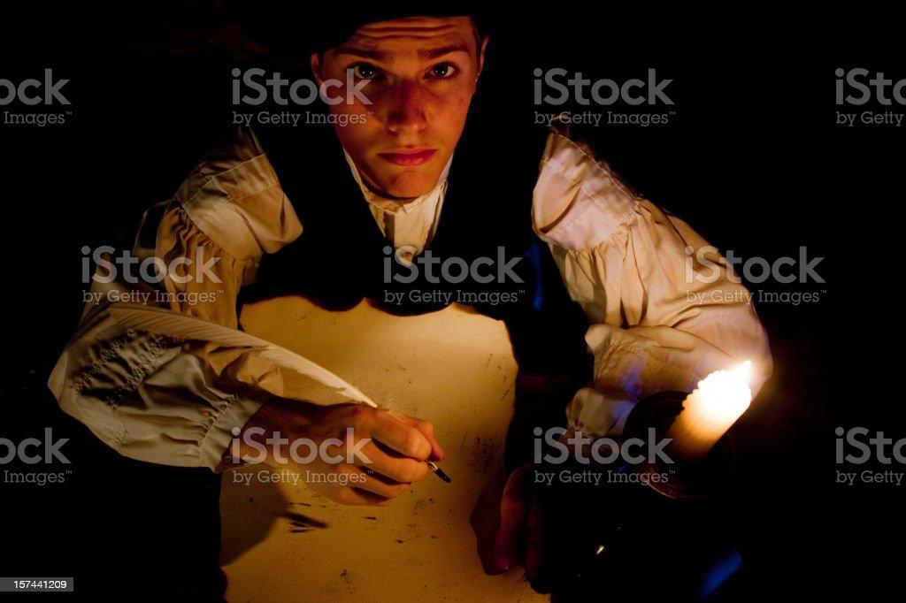 Nobleman at his desk royalty-free stock photo