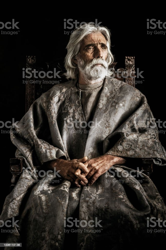 Nobleman portrait stock photo