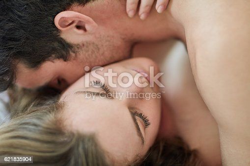 istock Nobody is immune to the neck kiss 621835904