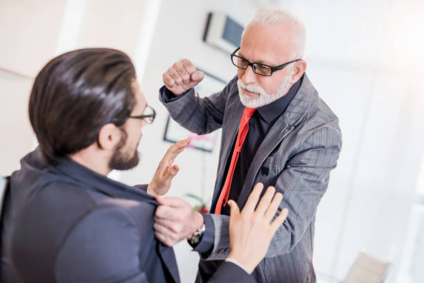 Nobody messes with my business - mature businessman once said. stock photo