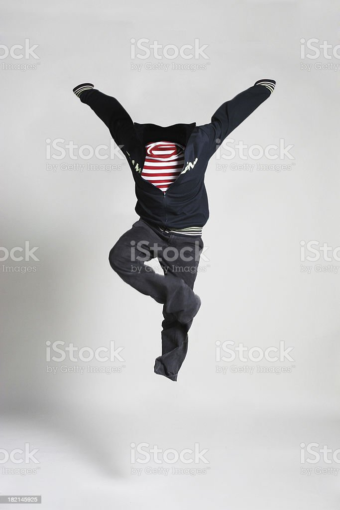 NoBody Series - jump in the air stock photo