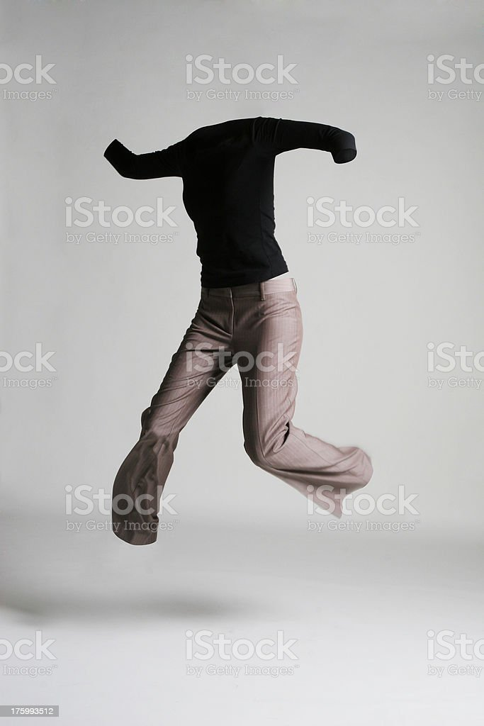 NoBody Series - woman jumping in the air stock photo