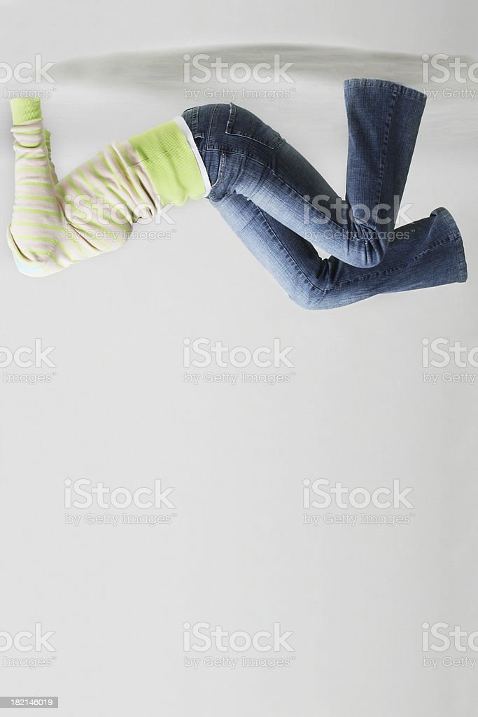 NoBody Series - woman upside down royalty-free stock photo