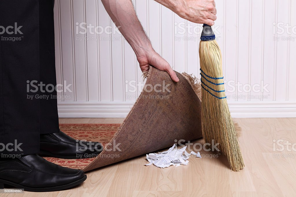 Nobody will find out! stock photo