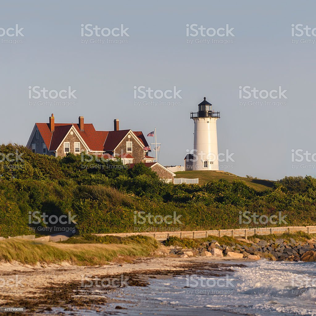 Nobska Lighthouse Cape Cod Massachusetts Stock Photo