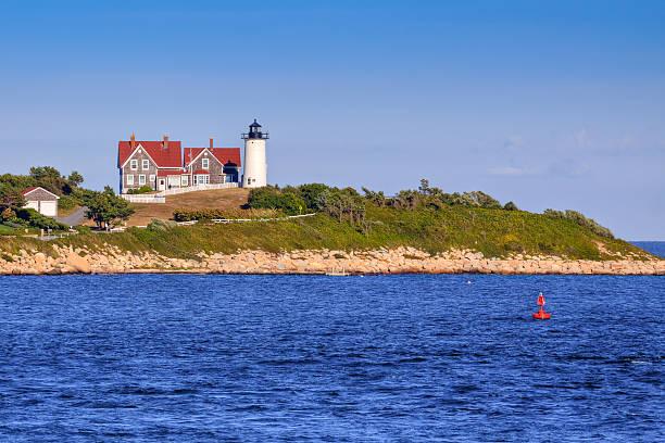 Nobska Lighthouse, Cape Cod, Massachusetts. stock photo