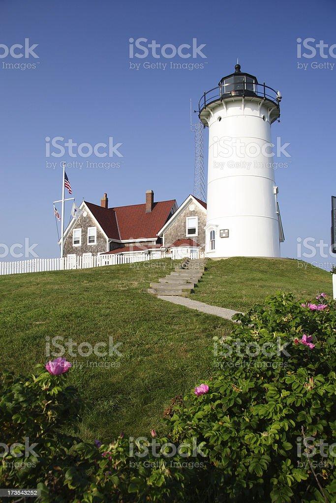 Nobska Lighthouse in Cape Cod Massachusetts royalty-free stock photo