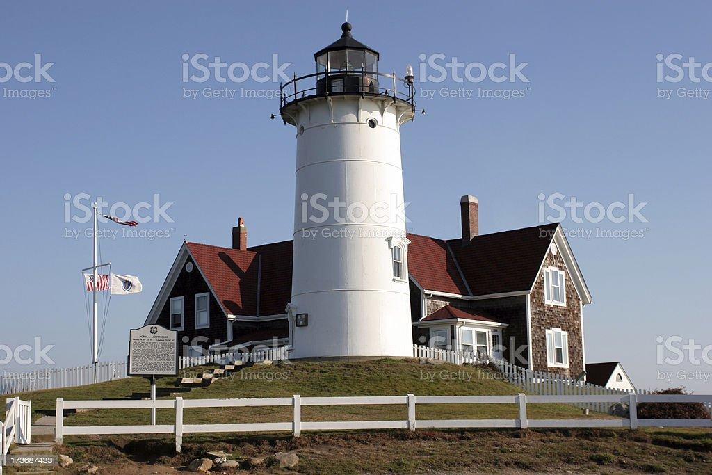 Nobska Lighthouse in Massachusetts stock photo
