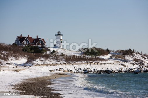 Nobska Lighthouse in Falmouth on Cape Cod
