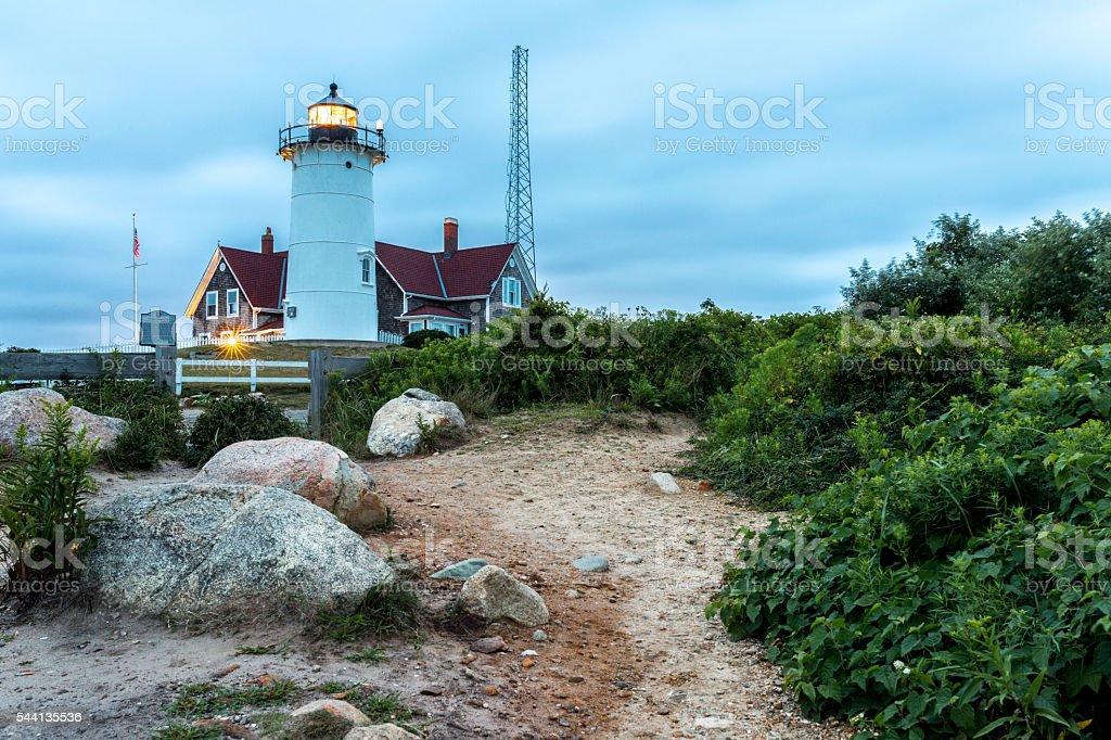 Nobska Lighthouse stock photo
