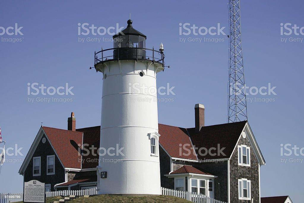 Nobska Lighthouse royalty-free stock photo