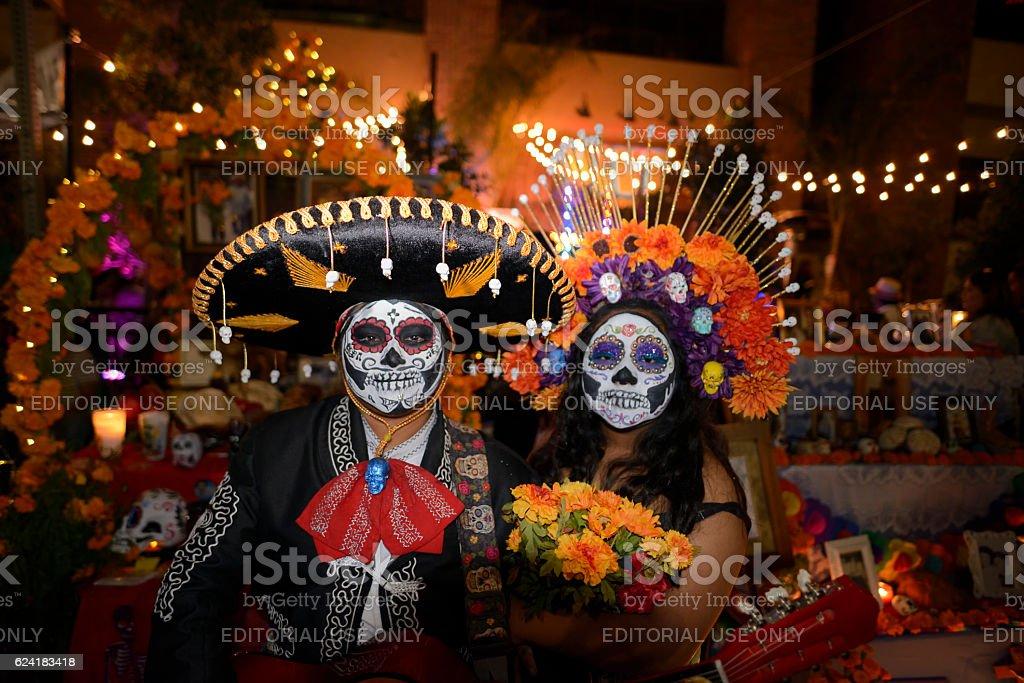 Noche de Altares stock photo