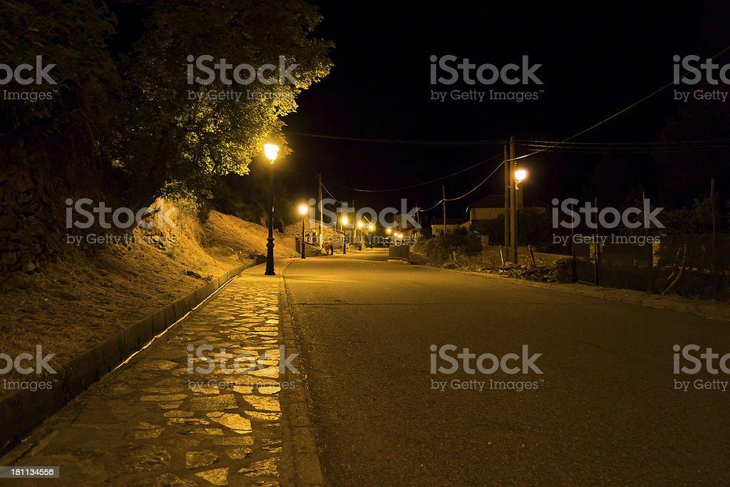 Noche en Somosierra royalty-free stock photo