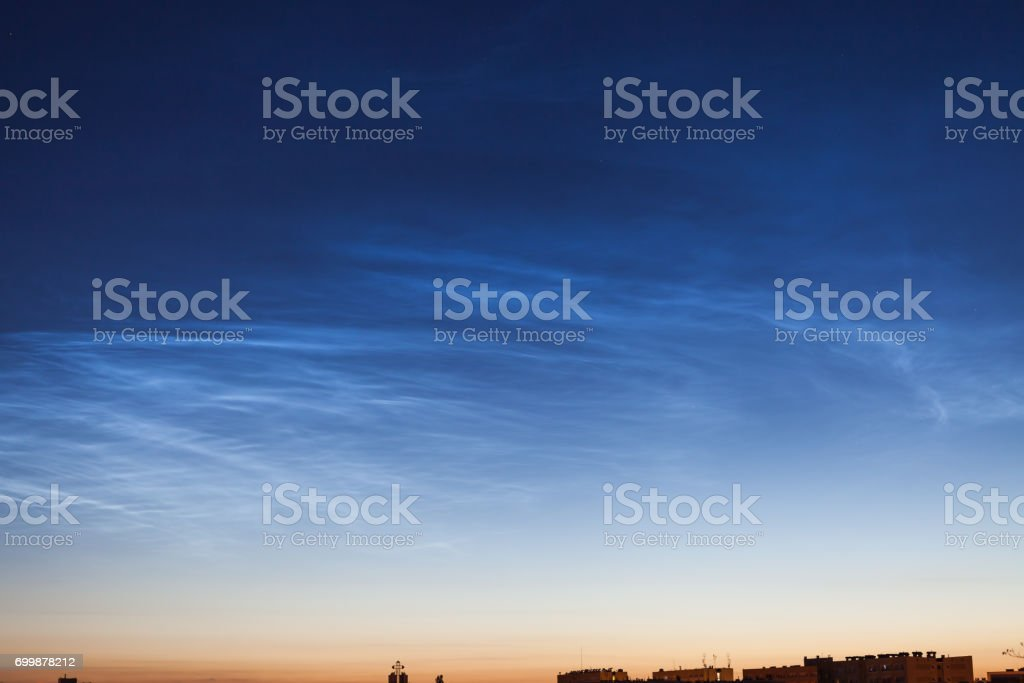 Noctilucent clouds royalty-free stock photo