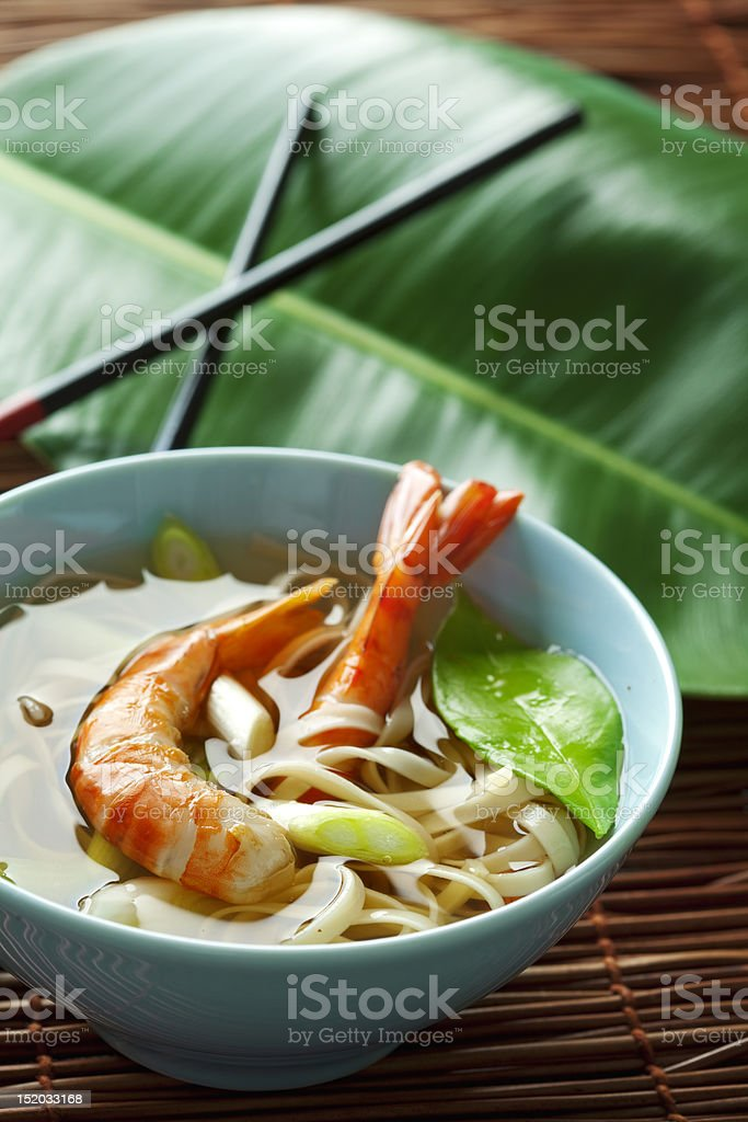 noddle and shrimps royalty-free stock photo