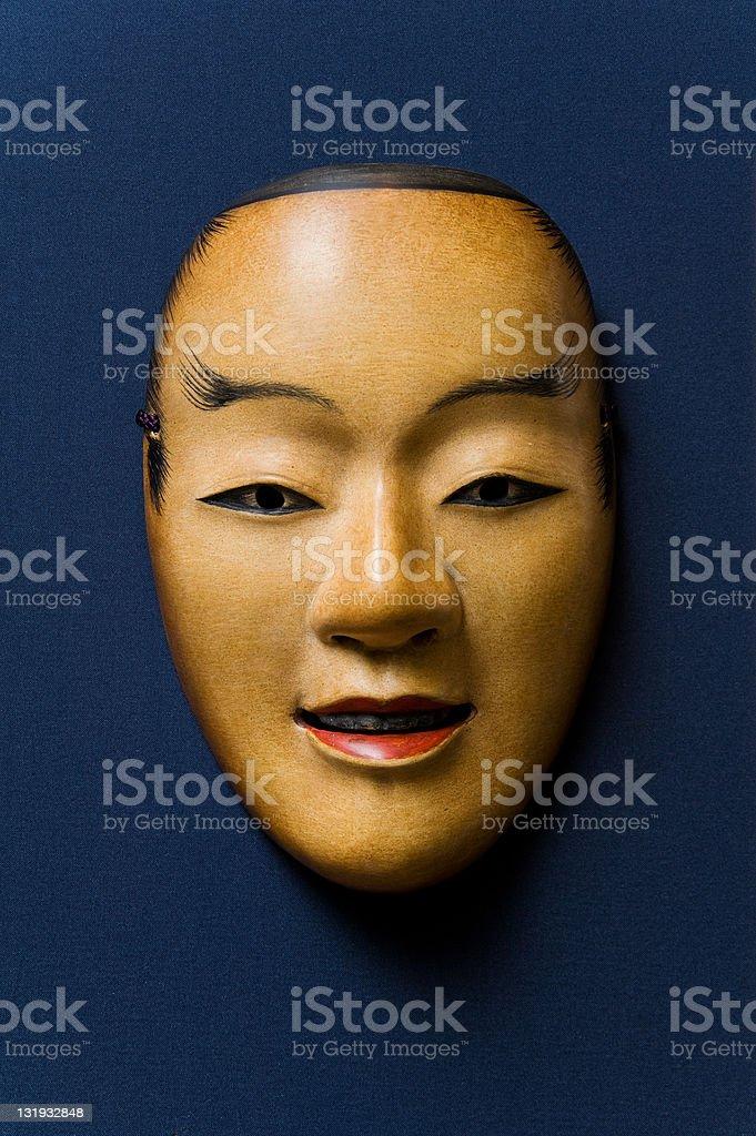 Noh mask-Wakaotoko stock photo