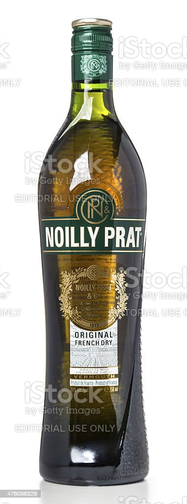 Noilly Prat french vermouth bottle stock photo