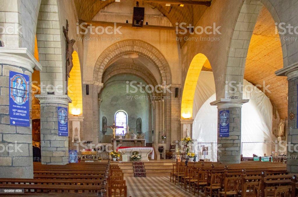 Noirmoutier en île . Eglise Saint Philbert. Vendée stock photo