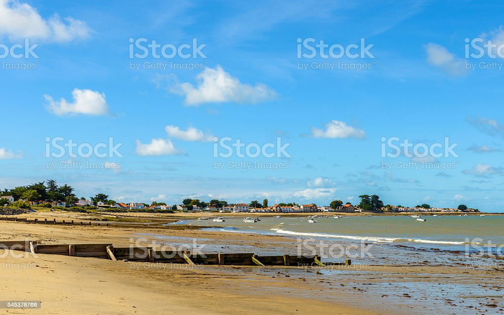 Noirmoutier island landscape, France stock photo