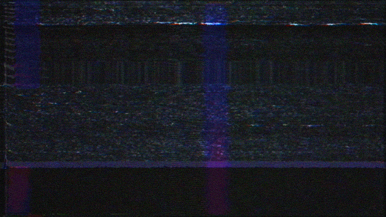 TV noise and glitches. Lost signal.