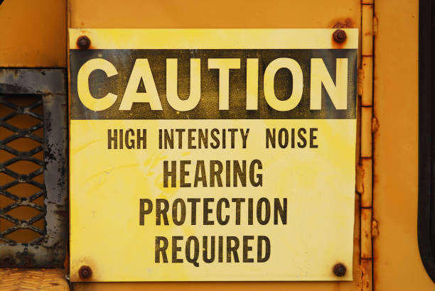 Noise Caution Sign stock photo