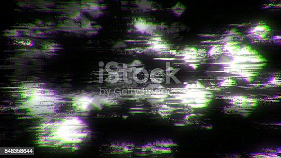 istock Noise Glitch Damage. Digital backdround 848358644