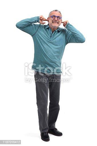 1029343276 istock photo noise man on white background 1137015412