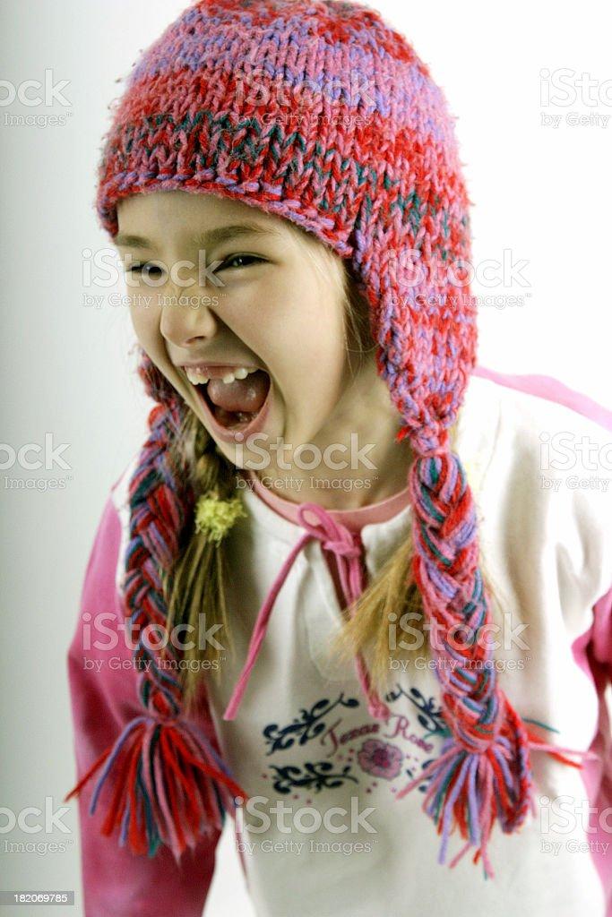 noisy girl royalty-free stock photo