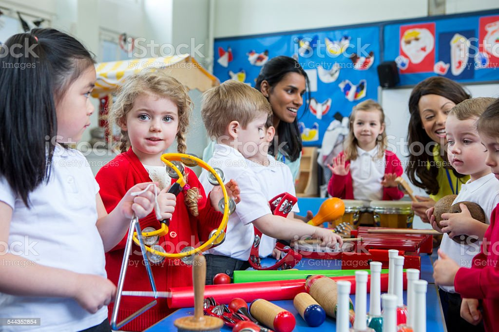 Noisy Nursery Lesson - foto stock