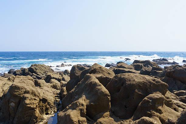 Nojimazaki Coast, Southernmost Place in Boso Peninsula stock photo