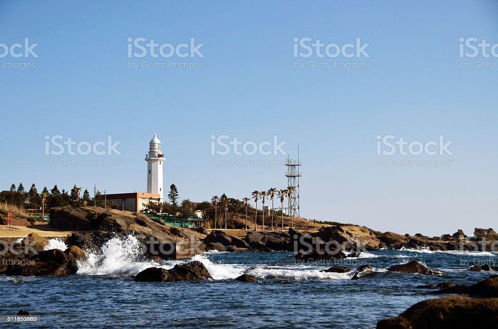 Nojimazaki lighthouse stock photo