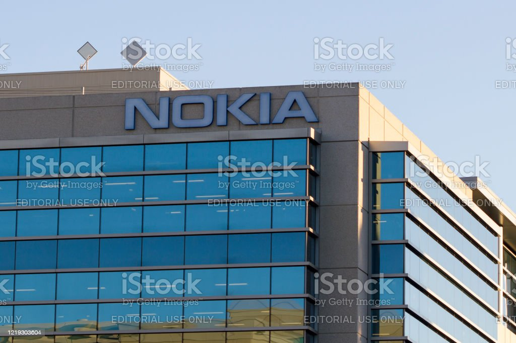 Nokia Sunnyvale, CA, USA - Feb 11, 2020: Nokia Bell Labs Silicon Valley office in Sunnyvale, California, United States. 5G Stock Photo