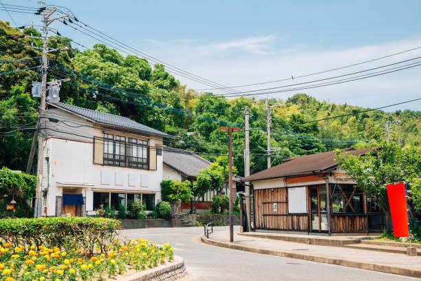 福岡県の能古島の旧村 - 日本 風景 ストックフォトと画像