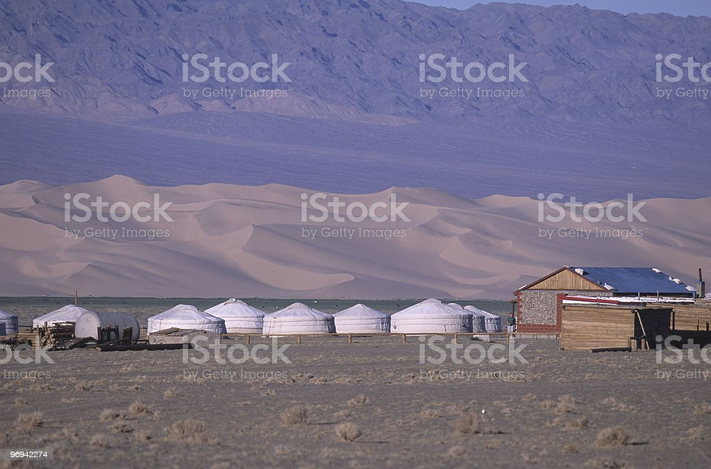 nomad gers camp royalty-free stock photo
