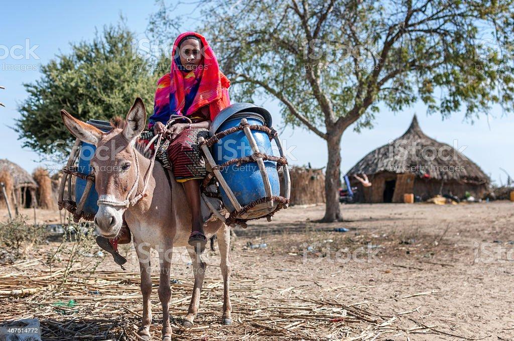 Nomad woman stock photo