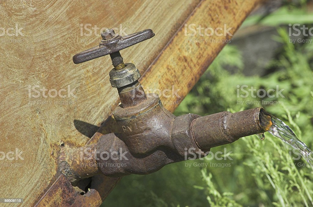 Non closed tap royalty-free stock photo