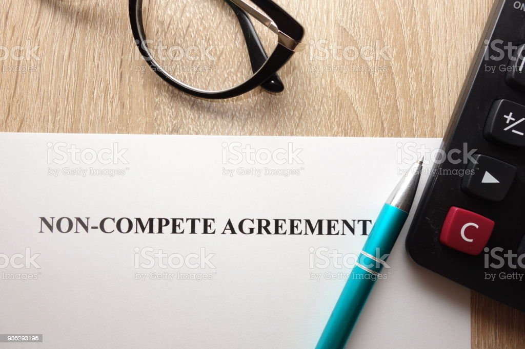 Non compete agreement form stock photo