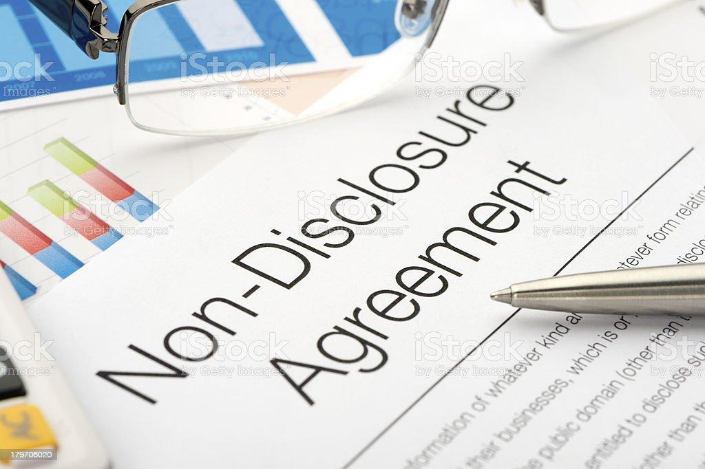 NDA. Non disclosure agreement royalty-free stock photo