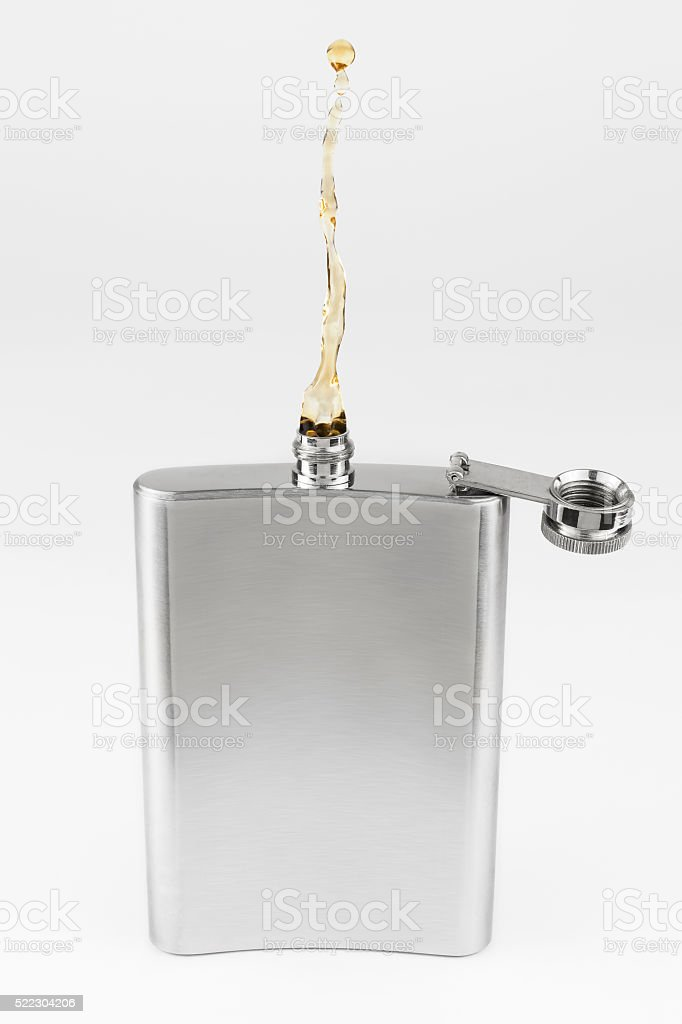 Non gravity liquor flask stock photo
