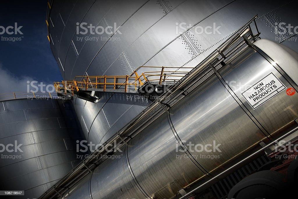Non hazardous products storage tanks stock photo