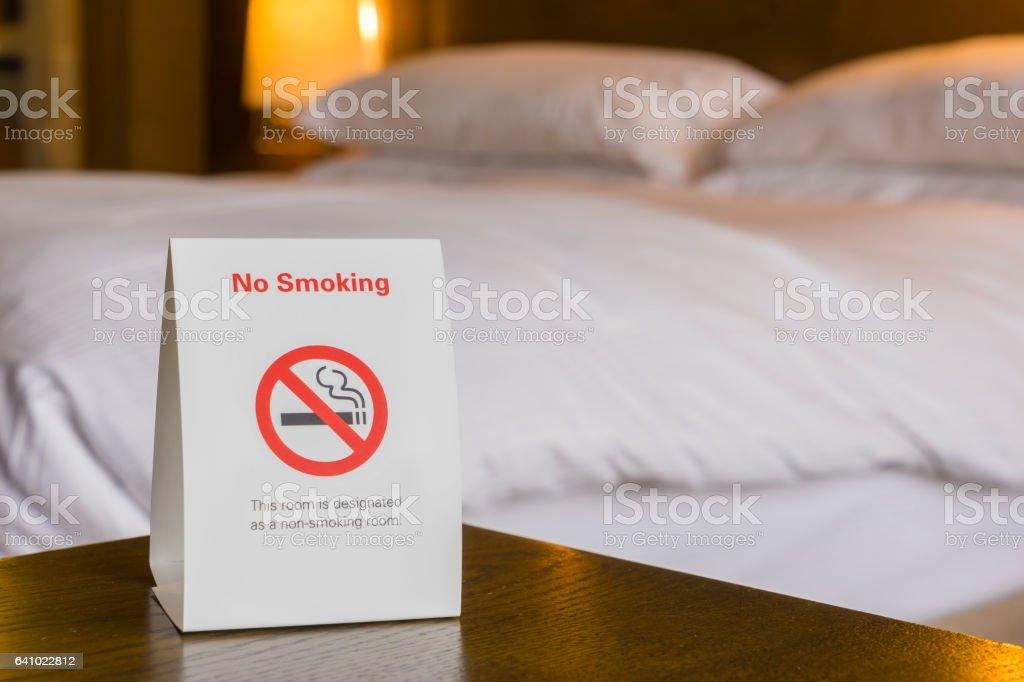 Non smoking hotel room stock photo