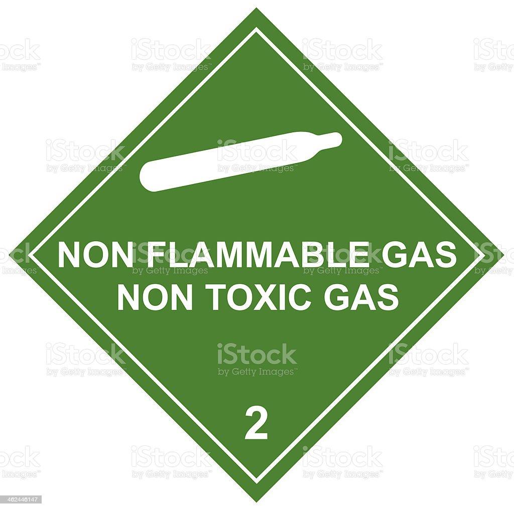 Non Toxic  Diamond Label on green background stock photo