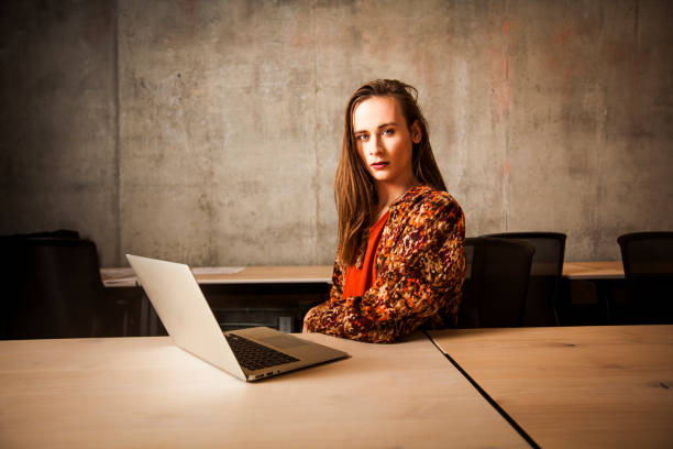 Non-Binary Gender Business Person stock photo