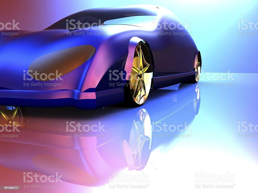 Non-branded generic concept car stock photo