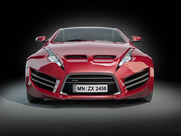 Non-branded hybrid sports car stock photo